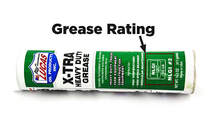 tie rod end grease rating
