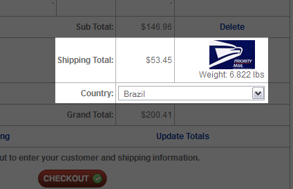 Shipping Moog in Brazil