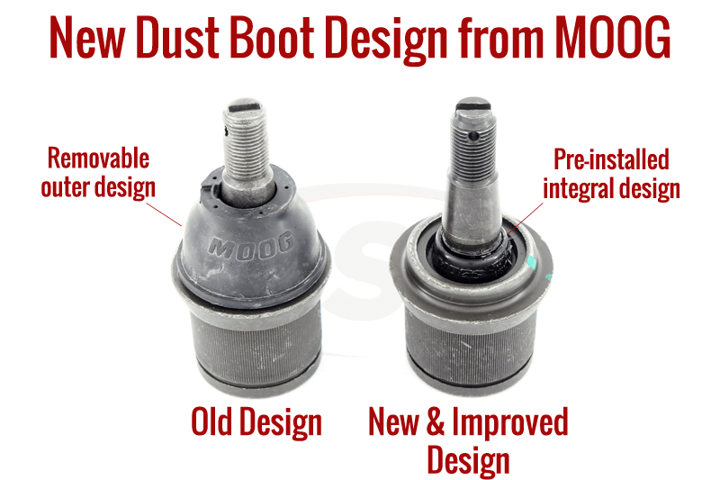Ball Joints Piping : Moog s integral dust boot suspension parts