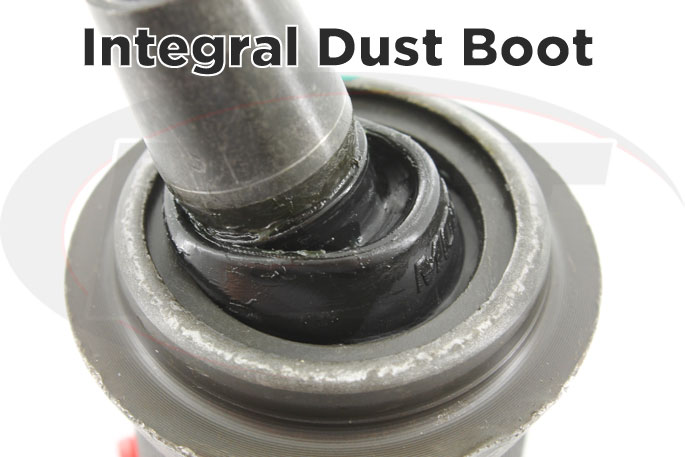 integral dust boot for off-road protection