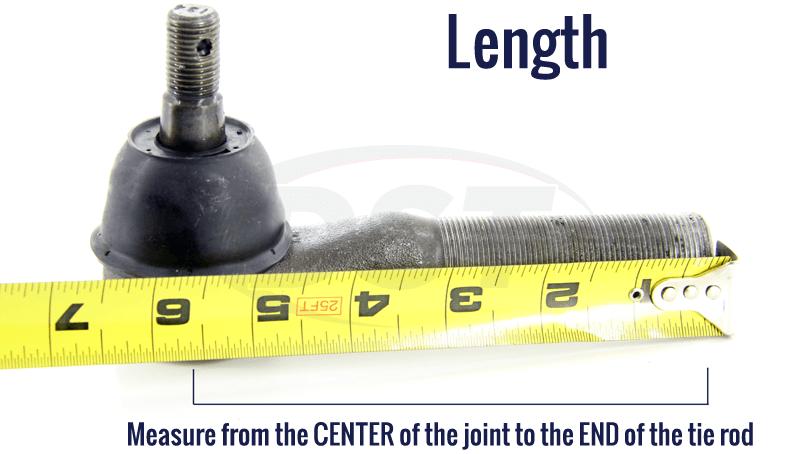 measure tie rod length