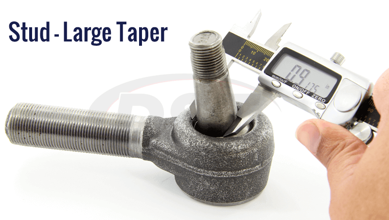 large stud taper measurement