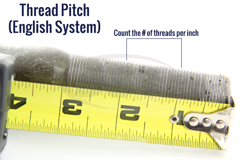 tie rod thread pitch inches
