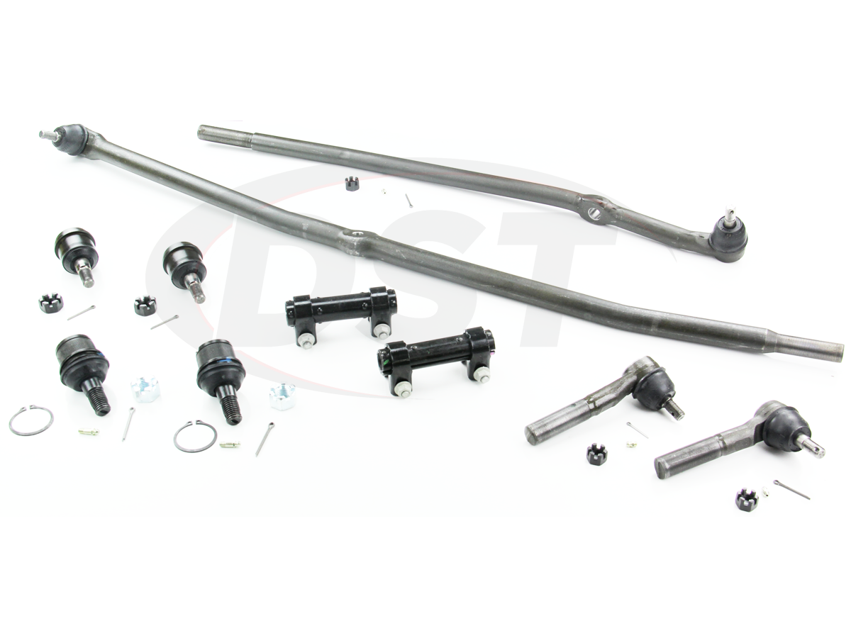 moog-packagedeal105 Front End Steering Rebuild Package Kit - 1st Design Steering Linkage